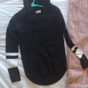 Black hooded sweater